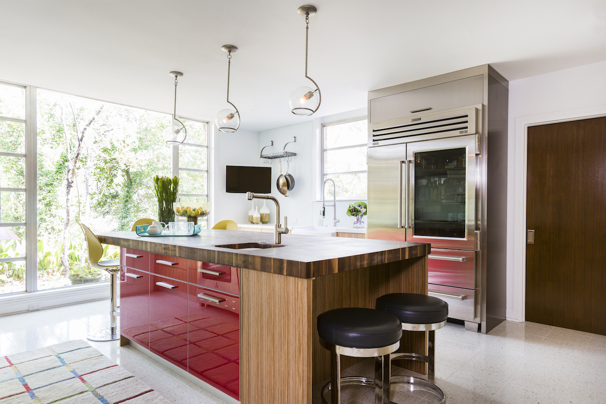 Zebrano Cabinetry in Project Design | Bentwood of Houston