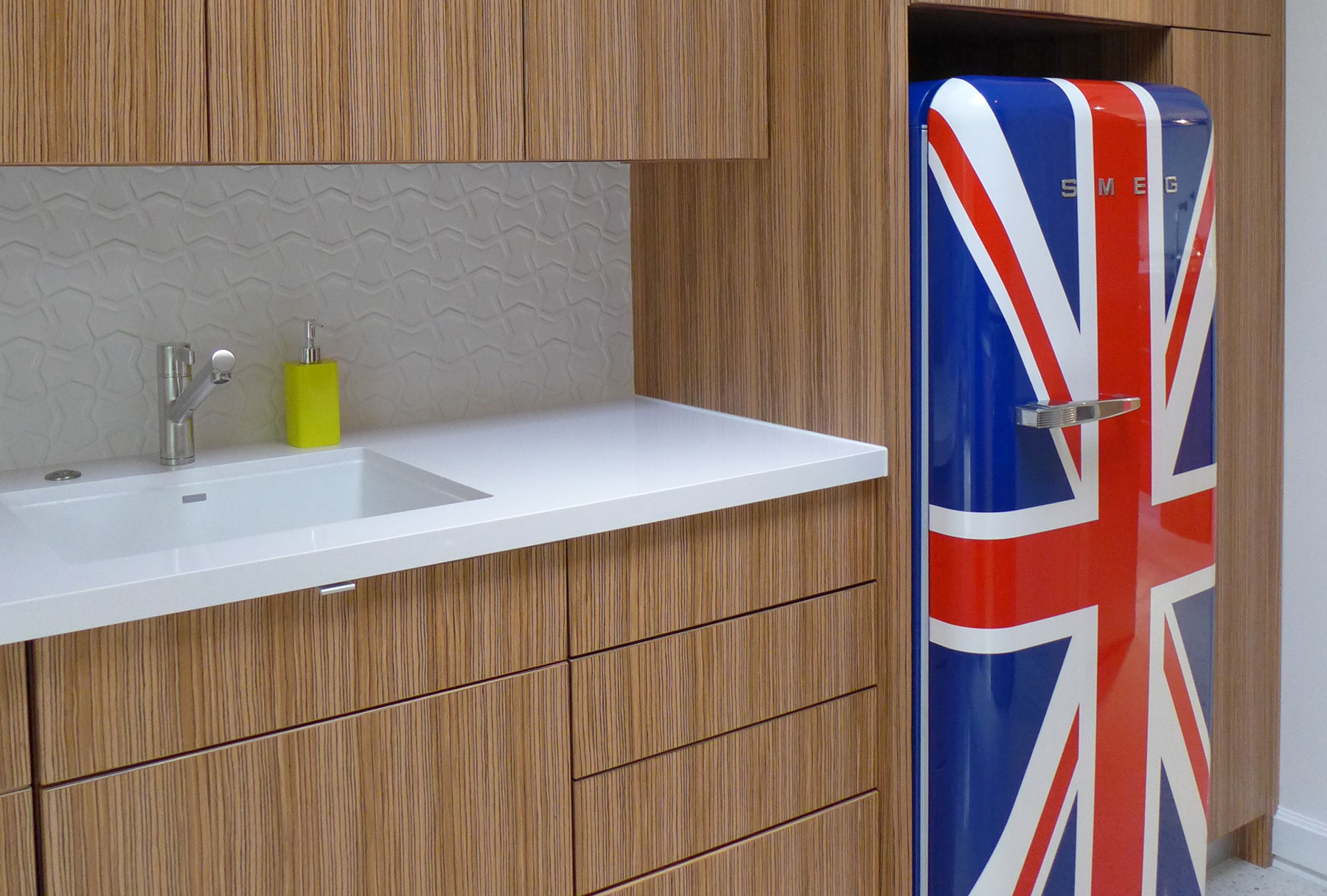 Smeg Refrigerator in Project Design | Bentwood of Houston